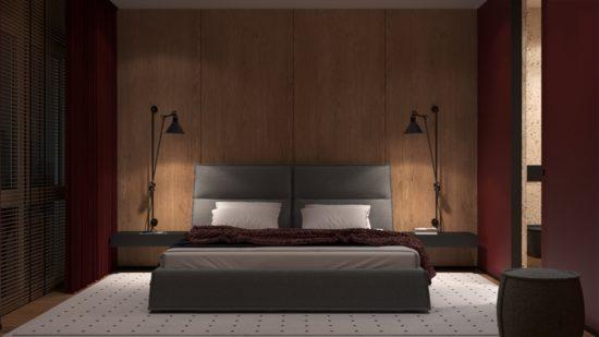 Кровать LANA в интерьере фото 3-1