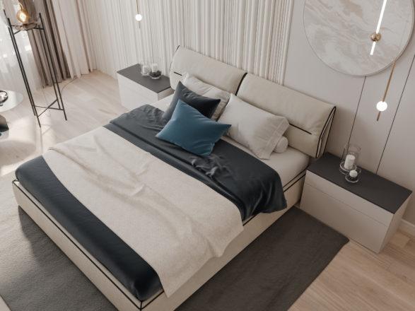 Кровать LIMURA и кресло TATI в проекте MAESTRO DESIGN