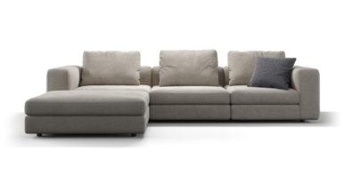 Кутовий диван з пуфом SOHO фото