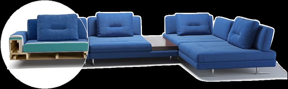 Ermes sofa детали