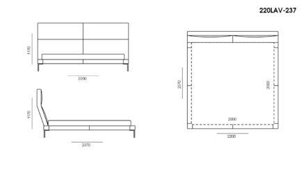 Ліжко LAVAL размеры фото 3