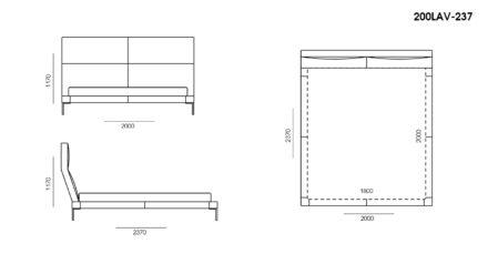 Ліжко LAVAL размеры фото 2