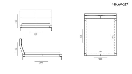 Ліжко LAVAL размеры фото 1