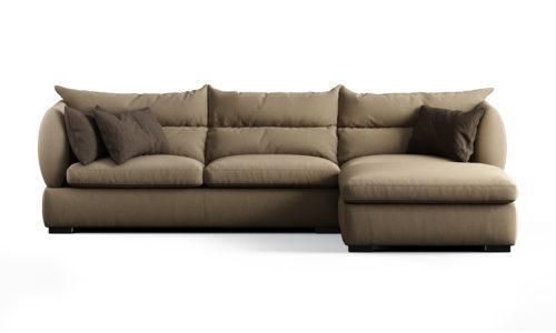 Трехместный диван с передвежным пуфом Parma фото