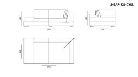 Appiani sofa размеры фото 6