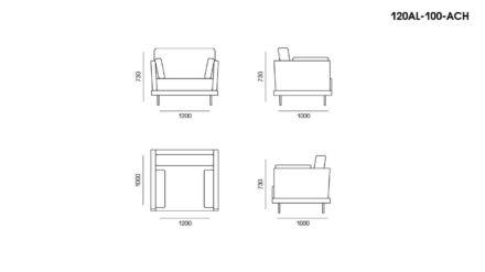 Кресло Alfinosa размеры фото 1