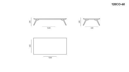 Стол Corto размеры фото 1