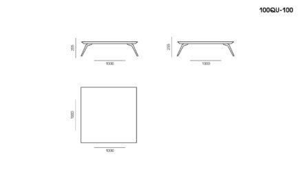Стол Quadro размеры фото 1