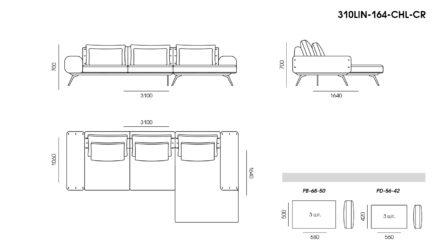Linda sofa размеры фото 3