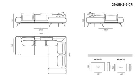 Linda sofa размеры фото 5