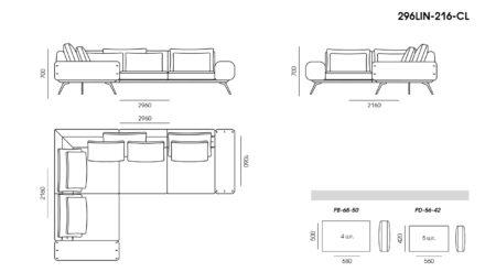 Linda sofa размеры фото 4