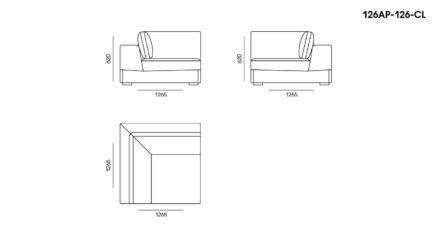 Appiani sofa размеры фото 4