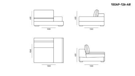 Appiani sofa размеры фото 3