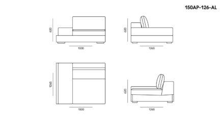 Appiani sofa размеры фото 2