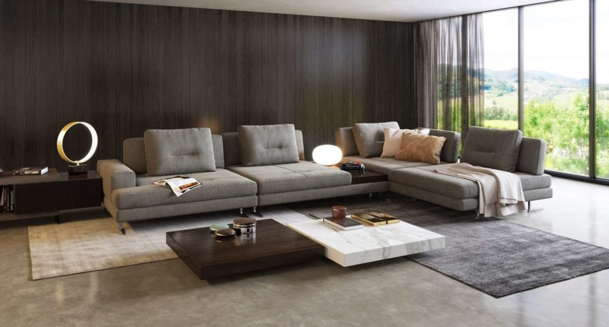 Ermes sofa фото в интерьере