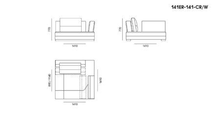 Ermes sofa размеры фото 19