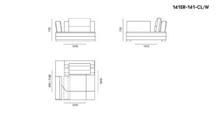 Ermes sofa размеры фото 18