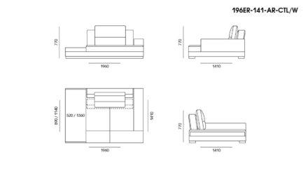 Ermes sofa размеры фото 17