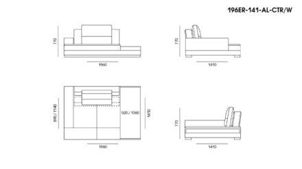 Ermes sofa размеры фото 16