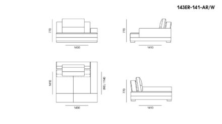 Ermes sofa размеры фото 15