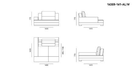 Ermes sofa размеры фото 14