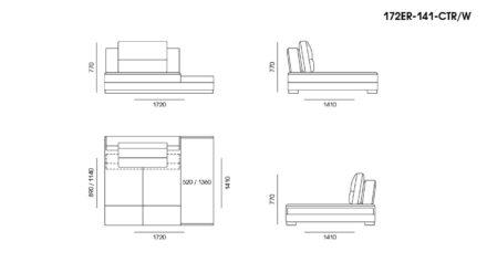 Ermes sofa размеры фото 13