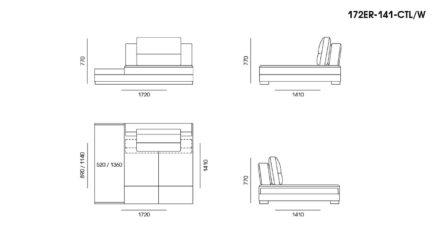 Ermes sofa размеры фото 12
