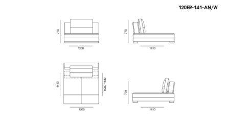 Ermes sofa размеры фото 11