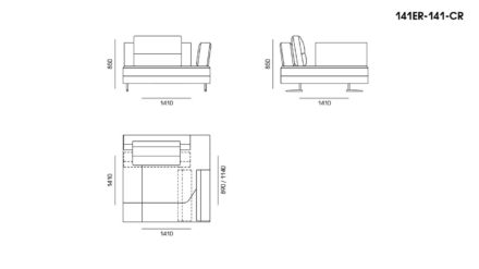 Ermes sofa размеры фото 9