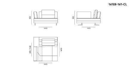 Ermes sofa размеры фото 8
