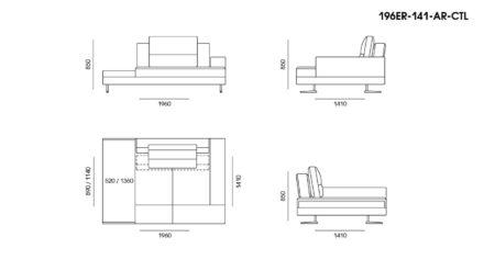 Ermes sofa размеры фото 7
