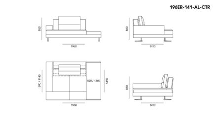 Ermes sofa размеры фото 6