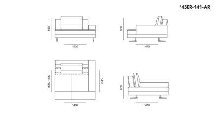 Ermes sofa размеры фото 5