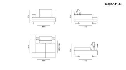 Ermes sofa размеры фото 4