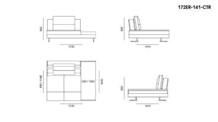 Ermes sofa размеры фото 3