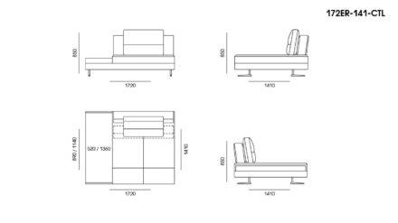 Ermes sofa размеры фото 2