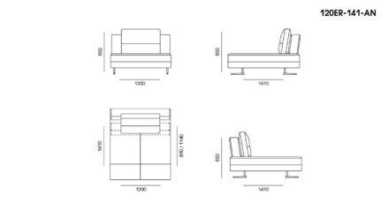Ermes sofa размеры фото 1