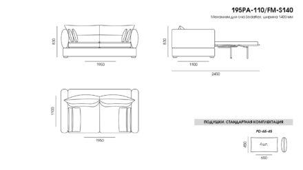 Parma sofa размеры фото 2