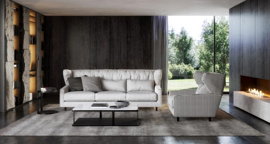 Milton sofa фото в интерьере