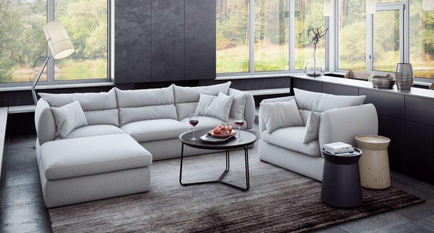 Parma sofa фото в интерьере