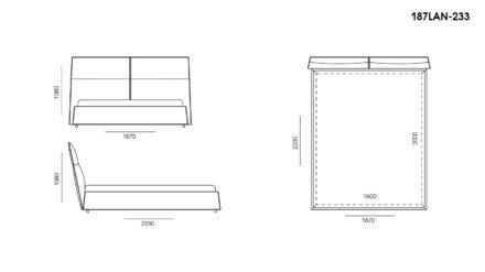 Ліжко LANA размеры фото 1