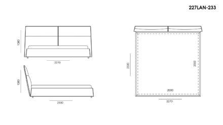 Ліжко LANA размеры фото 5