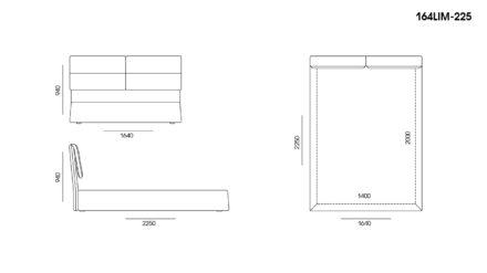 Ліжко LIMURA размеры фото 1