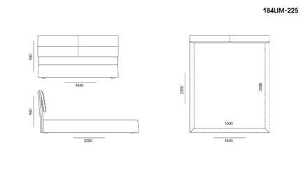 Ліжко LIMURA размеры фото 3