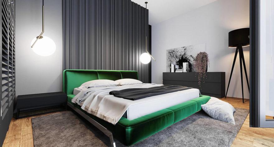Ліжко ETERNA в інтер'єрі фото 1