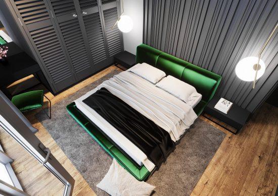 Ліжко ETERNA в інтер'єрі фото 2-2