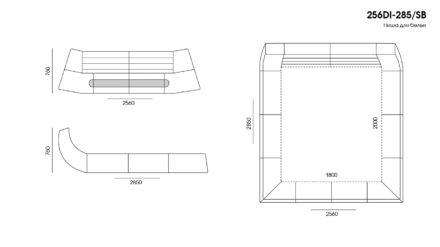 Ліжко DIONIGI размеры фото 4