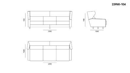Milton sofa размеры фото 3