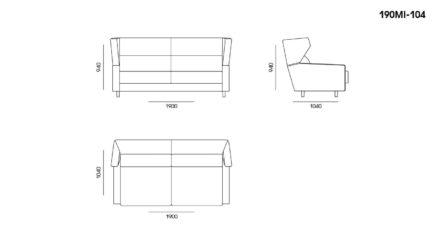 Milton sofa размеры фото 2