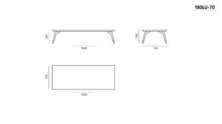 Lungo table размеры фото 1